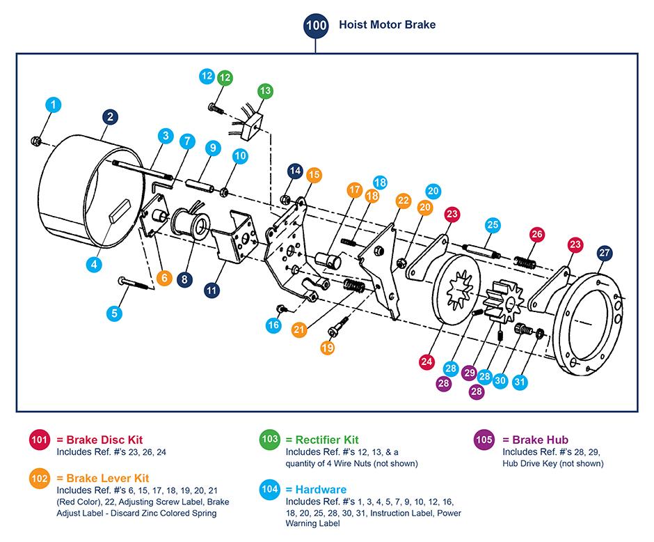 yale overhead crane hoist wiring diagram    hoist    motor brake later version proservcrane group     hoist    motor brake later version proservcrane group
